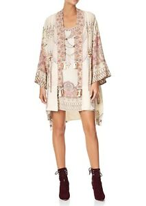CAMILLA Golden Age Layering Kimono With Neck Bands RRP $849