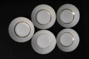 Lot of 5 NORITAKE China Fruit Bowls GLORIA Pattern 6526 White Gold
