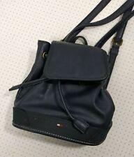 Vintage Tommy Hilfiger Mini Backpack Bag Blue Leather