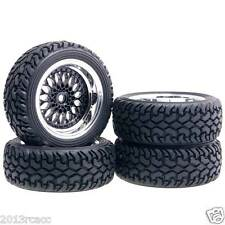 RC 1:10 On-Road Rally Car HSP 2083-8019 Plating Wheel Offset:9mm Rally Tires