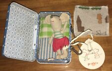 New Maileg Little Brother Mouse in Tin & Bedding Retired Htf Nwt