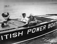 OLD PHOTO British Motorist And Speedboat Racer Mrs Victor Bruce 2