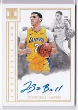 2017-18 LONZO BALL Panini Impeccable Indelible Ink AUTO RC Rookie GOLD HOLO /10
