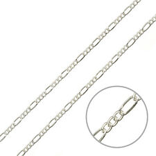 2mm Unfinished Figaro Chain Silver Plated Steel 1m For Jewellery Making (G94/20)