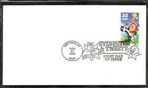 US SC # 3204 Sylvester & tweety FDC . Ready for cachet
