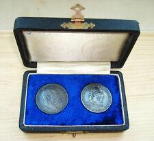 2x2 Mark 1901 & 1911 D unbenutzte Luitpold Friedrich I. und Wilhelm II SILBER