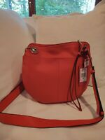 VINCE CAMUTO FARIA CROSSBODY Purse NWT PEBBLE LEATHER MSRP $198 Fire Opal Red