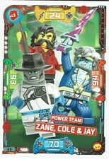 Lego ninjago Série 5 - Next Level - Carte TCG Numéro 29 Power Team Zane,Cole &
