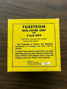 "Fusetron Box Cover Unit Type SSY-L for 4"" Square Box"