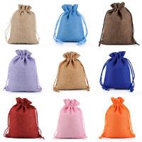4 pcs Large Burlap Sack Bags 20x30 CM Gift Bag Wedding Drawstring Pouches