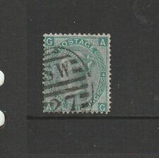 GB QV 1867/80 1/- Green PL 4 Used SG 117