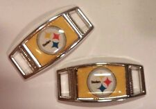 Set of 2 PITTSBURGH STEELERS Shoelace Charms For Paracord Projects NEW