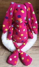 "Jellycat Les Animals Pink Spotty Bunny Rabbit 17"" Ex.con"