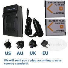 2xNP-BN Li-ion High Capacity Battery+charger for Sony NP-BN1 Cyber-Shot DSC-W800
