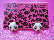 Betsey Johnson Panda Bear Stud Earrings