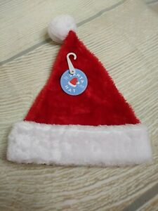 New! Infant SANTA HAT Christmas Holiday Red & White
