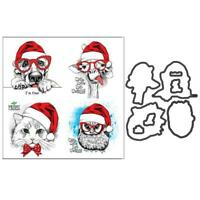 Merry Christmas Metal Cutting Dies And Clear Stamp Set For DIY Scrapbooking