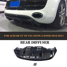 R8 Rear Bumper Diffuser Lip Body Kits Carbon Fiber For Audi R8 2-Door 10-15