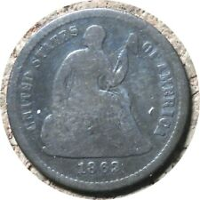 elf Seated Liberty Half Dime 1862 Legend Obverse Civil War