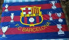 Bandera Flag Fahne BARCELONA Cups Years 90 Size XL Vintage