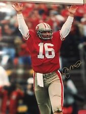 JOE MONTANA SIGNED 30X40 VICTORY PHOTO HUGE SIG WITH WITH PSA/DNA COA &  ONLINE