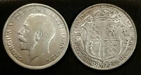 SCARCER DATES GEORGE V SILVER HALFCROWNS 1923,1924,1925 & 1930 CHOOSE COIN