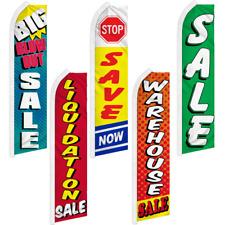 Sale Advertising Swooper Flutter Feather Flag Liquidation Warehouse Sale