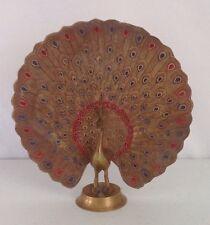 Hollywood Regency Brass Peacock Vintage Ashtray India Dish Decor Figurine