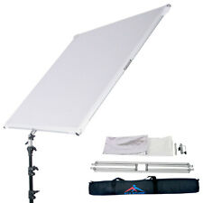 """39x59"""" White Silver Flat Panel and Frame Light Reflector Foldable Photo Studio"""