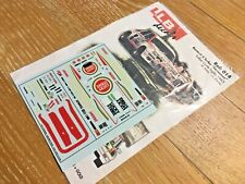 """Decal LLB Renault 5 Turbo """"LUCKY STRIKE"""" Rally Corte Ingles 1985 1/43 scale"""