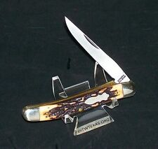 """Schrade 197Uh Knife The Cat Paw 1980's Era 3-9/16"""" Cl. W/Custom Packaging,Papers"""