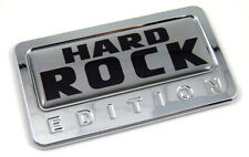 Hard Rock Silver Edition Chrome Emblem with dome decal Car Bike motorcycle Badge