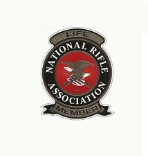NRA Decal/Sticker National Rifle Association LIFE MEMBER Gun DECAL REPLICA p23