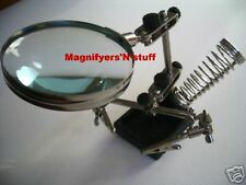 helping  3rd hand magnifying glass soldering iron stand NEW