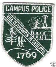 CAMPUS POLICE VOX CLAMANTIS IN DESERTO PATCH