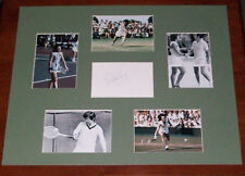 BILLE JEAN KING SIGNED 20X16 PHOTO MONTAGE MOUNT TENNIS