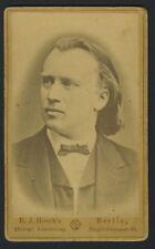 BRAHMS (Composer): Original CDV Photograph ca. 1860's