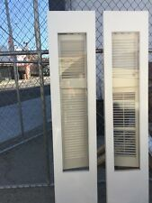 """Old Antique Vintage Pair Single Pane Wooden Glass Sidelights French Doors 18x77"""""""