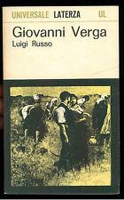RUSSO LUIGI GIOVANNI VERGA LATERZA 1969 UNIVERSALE 47