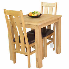 Oak Kitchen Dinning Table and Two Chairs