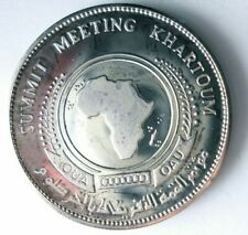 1978 SUDAN 5 POUNDS - VERY RARE PROOF SILVER COIN - Lot #m3