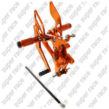 Adjustable CNC Rearsets Rear Sets Foot Pegs For Yamaha YZF R6 2003-2005 Orange
