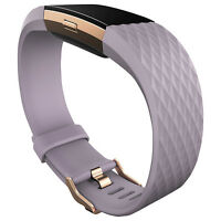 Fitbit Charge 2 Heart Rate and Fitness Tracker Large Rose Gold/Lavender (302219)