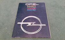 1979 OPEL KADETT ASCONA MANTA REKORD UK 54 PAGE BROCHURE October 1978 1979 Model