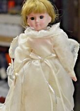 """FAIRY PRINCESS BY CAMELOT 15"""" PORCELAIN ANGEL DOLL W/ STAND QVC #C2092"""