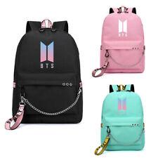 Bangtan Boys BTS Kpop Backpack School Shoulder Bag Bookbag Student Bag USB Port