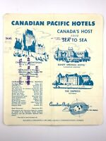 Vintage 1958 Canadian Pacific Hotels Receipt Royal York Toronto Canada CPR U256