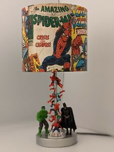 Marvel Avengers Spiderman Superhero batm character boys bedroom night light lamp