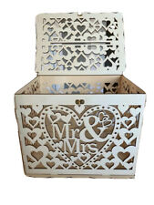 Wooden Wedding Card Box Wishing Well Gift Money Box with Lock