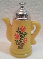 Vintage Avon Yellow Tea Kettle Bottle empty